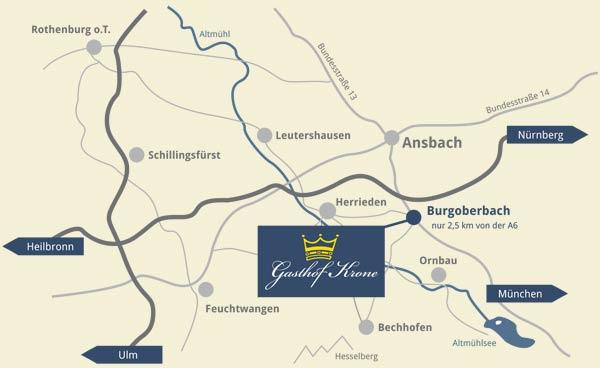 Gasthof Krone in Burgoberbach